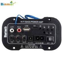Binmer Hot Selling  30W Bluetooth Car Subwoofer Hi-Fi Bass Amplifier Board MP3 Audio TF USB 12V/24V Gift Mar 28