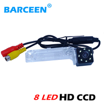 for Volkswagen PASSAT B5/Jetta/Touran/Caddy car rear view camera with hd ccd imagesensor+8 led +water-proof +on promotion