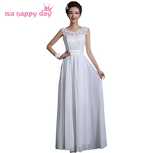 country style long lace top ivory chiffon illusion neckline corset bridesmaid dresses bridemaid dress from china H3306