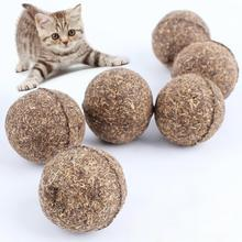 Funny Pet Toy Product Natural Catnip Ball Mint Ball Toy for Cat Dog Cat Kitten Cat Teaser Playing Chew Rope Ball Cat Treats Toys
