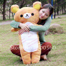 Fancytrader Giant Plush Stuffed Rilakkuma Cushion Pillow Free Shipping FT90076 ! Good Birthday Gift and Valentines' Day Gift!