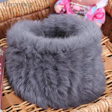 Fur muffler scarf pullover women's autumn and winter thermal rex rabbit hair scarf false collar luxury