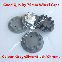 20pc New Car Styling Silver 76mm Black Chrome Grey Wheel Hub Center Caps Car Covers Badge Emblem