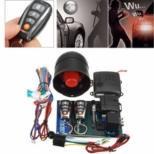 L202 LED Universal One Way Auto Car Alarm Systems Central Door Locking Security Key with Remote Control Anti-Theft System
