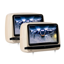 "2x9"" HDMI Touch Screen Car Headrest DVD Player Anti-theft Detachable Flat Cover Monitor Adjustable Screen IR FM Backseat Video"