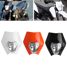 1Pc Motorcycle Dirt Bike Motocross Universal Headlamp With H4 Lamp For KTM SX EXC XCF F SMR Headlight