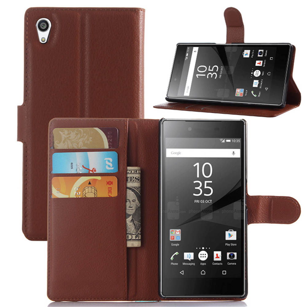 HUDOSSEN Sony Xperia Z5 Phone Cases Fundas Capa Magnetic PU Flip Leather Case Covers Bag Card Holder Coque Xperia Z5