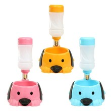 New Pet Dog Feeders Automatic Water Bottle Animal Food Hanging Plastic Drinking Dispenser Rabbit Hamster Feeding Bowl Dish