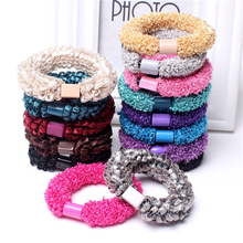 Wholesale High Quality 10pcs/lot Elastic Hair Bands Corn Flower Hair Rope Hair Holders Hair Accessories New Arrival(China)