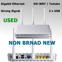 802.11n 300Mbps Wireless WiFi Router Gigabit Ethernet Wi-Fi Repeater + 2 x USB Port for ASUS RT-N16 DD-WRT / Tomato Firmware