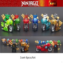 Decool 6pcs/set 10029-34 Ninja movie motor bike Building Blocks Bricks toy kids gifts lego LELE Ninjago LEPIN minifigure