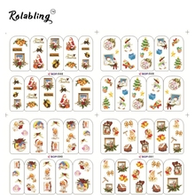 2017 Very Popular People Expect Christmas Series Fashion Water Nail Decals Nail Design Sticker Fingernail Decorations