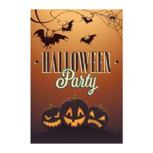 Halloween Party With Pumpkin Designed Garden Flags With Double Sided Printing Decorative Outdoor And Indoor Flags Home Banner