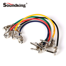 Soundking high quality Audio Cable 6 pieces 0.3M 6.35 Male To 6.35 Male Instrument Cable suit for Guitar Effect Device B19