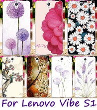 Cell Phone Cover For Lenovo Vibe S1 S1C50 S1A40 Cases Watercolor Pattern Floral Flowers Painted Soft TPU Skin Cover Phone Shell