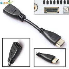 Binmer Superior Quality Any Angle Adjustable Rotation HDMI Male to Female Swivel Adapter Converter Black AU26