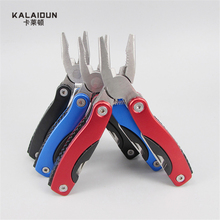 9 in 1 Foldable Knife Multifunctional Plier Portable Outdoor Survival Stainless Steel Hand Tools Bottle Wrench Pliers Files(China)