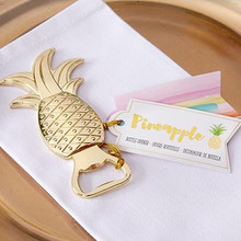 Wedding Favors Gold Pineapple Bottle Opener Party Favors Gif 100pcs beer bottle Best Christmas Wedding Gift(China)