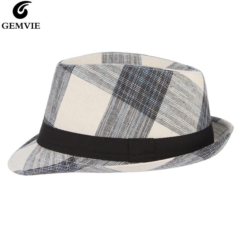 Women Men Fedoras Jazz Hat Spring Summer Bowler Hats Panama Cap Trilby Breathable Beach Sun Hat