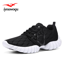 IYOUWOQU Sneakers women shoes 2017 New Women platform sneakers outdoor running shoes body Cozy Breathable building walking shoes