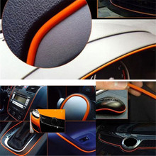 Universal 5m Car-Styling Sticker on Cars Interior Car Decoration Moulding Trims Strips Flexible Car Styling Auto Accessories(China)
