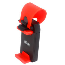 Universal Car Steering Wheel Mobile Phone Holder Cradle Smart Clip Mount Rubber Band For Samsung iPhone 5 iPod MP4 GPS