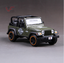 Jeep Wrangler Maisto 1:27 Convertible Jeep SUV Simulation alloy car model Military vehicles Harley version Toy  Collection