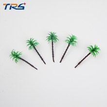 free shipping 200pcs architectural scale model palm tree 30mm mini artificial palm tree