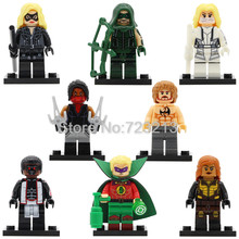 X0175 Storm Hero Vixen Figure Arrow Black White Canary Iron Fist Elektra Mister Terrific Green Lantern Building Blocks Toys