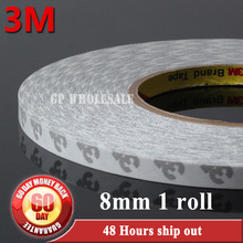 1x 8mm width X 50M Length 3M 9080 Double Sided Adhesive Tape Sticker Rework for LED Ipod Screen Sticky Acrylic Acid