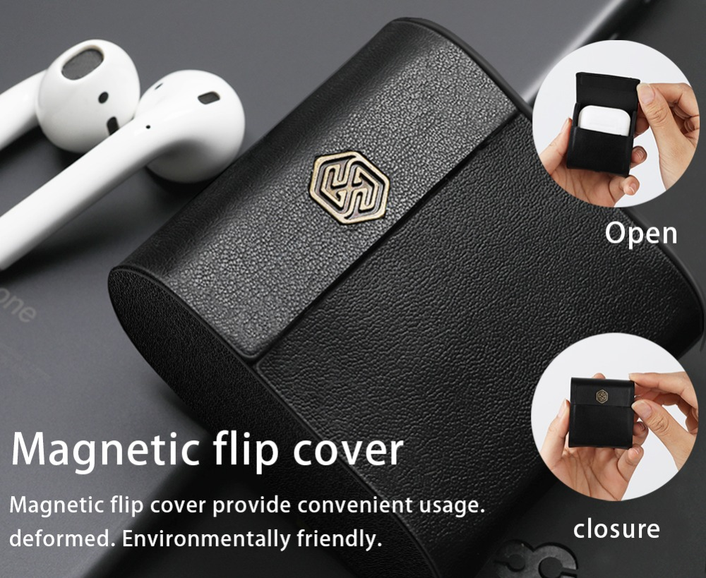 Nillkin for AirPods Case Wireless Charging Protective Cover Qi Standard for Apple AirPods Compatible with Qi wireless Charger