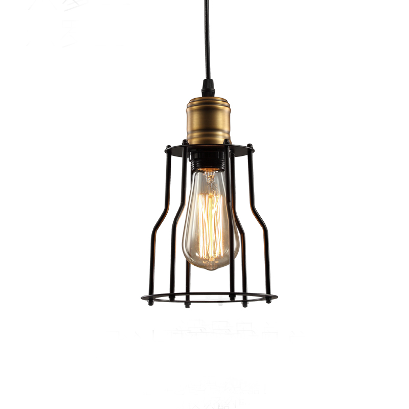 Small hob droplight rural industrial wind restoring ancient ways American meals hanging bar LED lamps The balcony  lanterns<br>