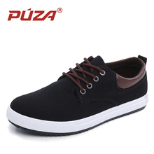 PUZA New Arrival Men Casual Shoes Fashion Canvas Shoes For Men Summer Shoes Breathable Lace Up Flats Zapatos Hombre Size 39-45(China)