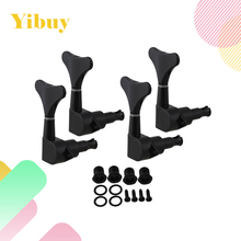 Yibuy Black 4 Right Hand Sealed Bass Tuners Machine Heads Set(China)