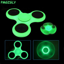 Buy Glow Dark Fidget Spinner 9 Colors Tri-Spinner Plastic EDC Hand Spinner Glow Dark Autism ADHD Anti Stress for $1.10 in AliExpress store