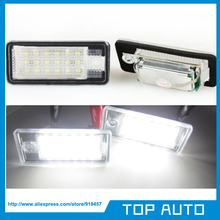 1Pair Error Free LED Number License Plate Light for Audi A3 S3 8P A4 S4 8E 8H RS4 Q7 A6 A8