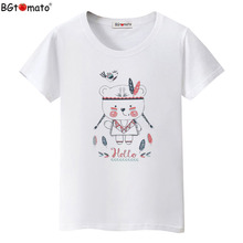 BGtomato Super cute lovely t-shirts Hot sale women's shirts Original brand casual shirts cheap price women tees cool tops