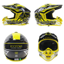 Rockstar Dot Motorcross Helmet ATV Dirt Bike Moto Casque 1/3 Half Open Face Motorcycle Helmets Off Road Racing Capacete Casco
