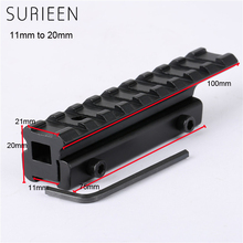 SURIEEN Aluminum Tactical Extension Picatinny / Dovetail Weaver 11mm to 20mm Rail Hunting Scope Mounts Hunting Gun Accessories(China)
