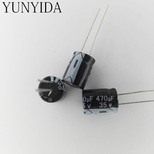Aluminum electrolytic capacitor 35V470UF 470UF 35V 20PCS(China)