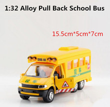 Super alloy die-cast toys, 1:32 alloy model school bus, high simulation car models, children educational toys, free shipping(China)