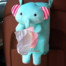 Plush Car Tissue Box Napkin Container Paper Holder Case Pouch Organizer Home Office Animal Shape Auto Interior Accessoreis Cute
