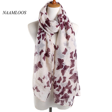 2017 new release Butterfly pattern Spring Brand Scarf for Women Voile multi-functional fashion Shawl 190*90(China)