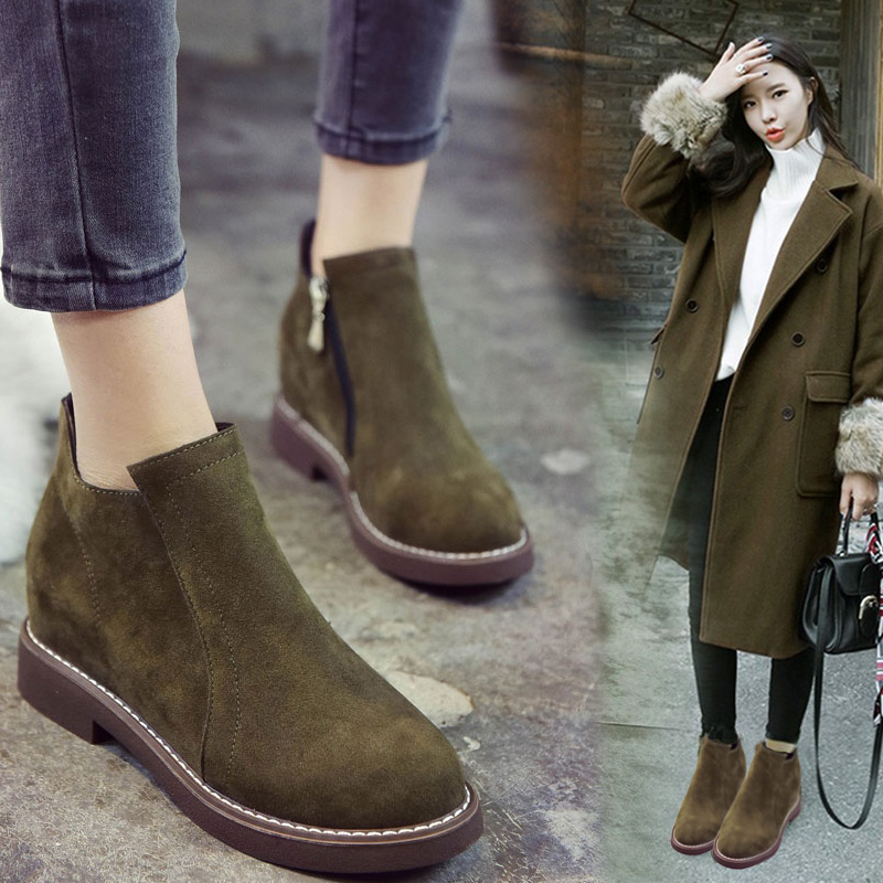 2017 The new womens shoes Fashionable and comfortable Martin boots the short boots in the thick bottom&amp;<br>