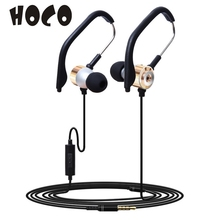 3.5mm In Ear Clip On Sport  high quality Gift microphone Wired W/ Mic Stereo Earphone Jogging Earphone_KXL0309