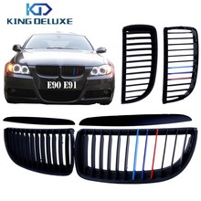 For BMW E90 E91 3-Series 325i 328i 330i 335i Front Grille Kidney Grill Lattice in Matte Black Mix Colored #P19