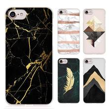 marble tri black gold hellip Clear Cell Phone Case Cover for Apple iPhone 4 4s 5 5s SE 5c 6 6s 7 7s Plus