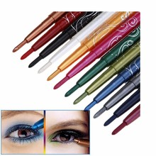 12 Sexy Colors Eyes Makeup Long Lasting Waterproof Glitter Eyeshadow Eye Shadow Pen Eyebrow Lip Pencil Sets Cosmetic Beauty Kits(China)