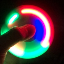 HotSale LED Light Hand Finger Spinner Fidget Plastic EDC Hand Spinner For Autism and ADHD Relief Focus Anxiety Stress Gift Toys(China)