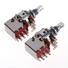 A250K+B250K Push Pull Control Pot Potentiometer for Electric Guitar Bass Guitar Switch Knob Accessary Volume Control
